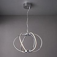 Olivia Chrome effect 6 Lamp Pendant Ceiling light