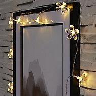 Flower Battery-powered Warm white 10 LED Indoor String lights