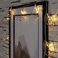 Metal cage Battery-powered Warm white 10 LED Indoor String lights