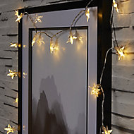 Star Battery-powered Warm white 20 LED Indoor String lights