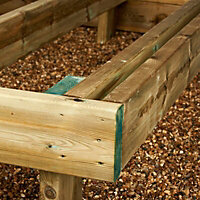 Spruce & PEFC Rounded Planed Deck joist (L)2.4m (W)144mm (T)44mm of 1