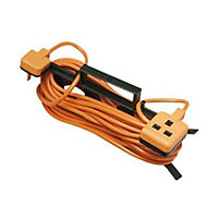 Masterplug 1 socket 10A Orange Extension lead, 15m