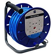 Masterplug 4 socket Cable reel, 45m