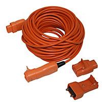 Masterplug 1 socket 10A Orange Extension lead, 20m