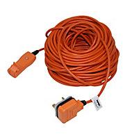 Masterplug 1 socket 10A Orange Extension lead, 30m