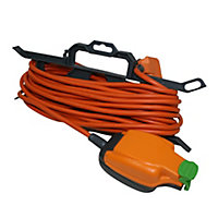 Masterplug 1 socket 13A Orange Extension lead, 15m
