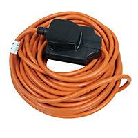 Masterplug 1 socket 10A Black Extension lead, 10m