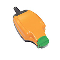 Masterplug 13A Orange Single External Switched Socket