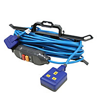 Masterplug 1 socket 13A Blue Extension lead, 15m