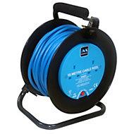 Masterplug 2 socket Cable reel, 15m