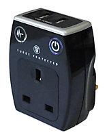 Masterplug 13A 1 gang Surge adaptor