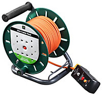 Masterplug 4 socket Cable reel, 25m