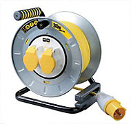 PRO XT 2 socket Cable reel, 30m