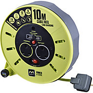 PRO XT 2 socket Cable reel, 10m