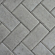 Europa Grey Block paving (L)200mm (W)100mm, Pack of 404
