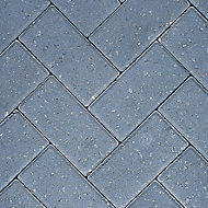 Europa Charcoal Paving slab (L)200mm (W)100mm, Pack of 404
