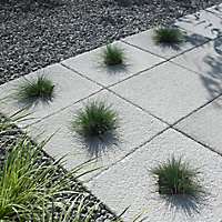 Textured Grey Paving slab (L)600mm (W)600mm, Pack of 20