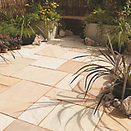 Fossil buff Paving set 14.9m², Pack of 40