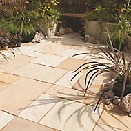 Fossil buff Paving set 16.1m², Pack of 85