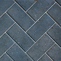 Charcoal Driveway Block paving (L)200mm (W)100mm, Pack of 488, 9.76 m²