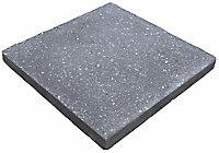 Midnight grey Panache Ground Paving slab (L)450 (W)450mm Pack of 40