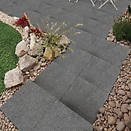 Midnight grey Panache Ground Paving slab (L)450 (W)450mm Pack of 40