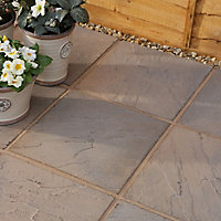 Derbyshire Brown blend Paving slab (L)450mm (W)450mm, Pack of 76