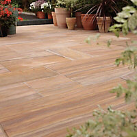 Sawn natural sandstone Rainbow Paving set 15.3m²