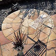 Sunset buff Natural Sandstone Circle paving pack 2.46m