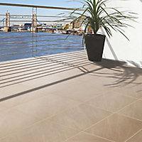 Mode porcelain Silver grey Paving slab (L)600mm (W)600mm, Pack of 60