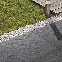 Mode porcelain Dark grey Paving slab (L)600mm (W)600mm, Pack of 60