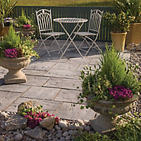 Weathered grey Ashbourne Mixed size paving pack (L)3150 (W)1800mm