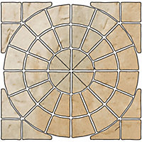 Old town Grey green Paving set 6.12m², Pack of 36