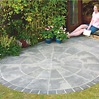 Old riven Autumn silver Paving set 4.52m², Pack of 34