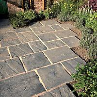 Weathered grey Wetherdale Single paving slab (L)300mm (W)450mm