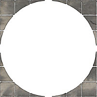 Old riven Autumn silver Paving circle squaring off pack 1.24m² , Pack of 12