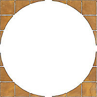 Autumn cotswold Old Riven Paving circle squaring off pack