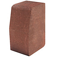 Red Block kerb (L)200mm (W)100mm (T)125mm, Pack of 192