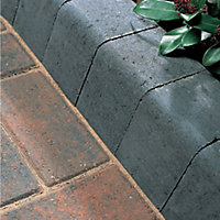 Charcoal Block kerb (L)200mm (W)100mm (T)125mm, Pack of 192