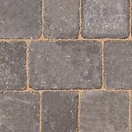 Woburn rumbled Graphite Block paving (L)134mm (W)134mm, Pack of 504