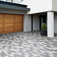 Mid grey washed Stonemaster Paving slab (L)300mm (W)100mm, Pack of 240, 7.2 m²
