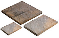 York brown Ashbourne Mixed size paving pack Pack