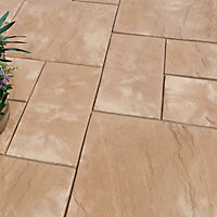 Old riven Autumn cotswold Paving set 5.25m², Pack of 23