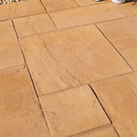 Old riven Autumn gold Paving set 5.25m², Pack of 23