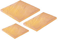Autumn gold Old Riven Mixed size paving pack