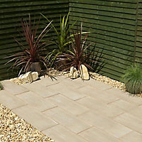 Timber plank Paving edging (H)250mm (T)40mm