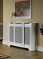 Adjustable radiator cabinet small-medium 975-1425X918X220mm Classic white