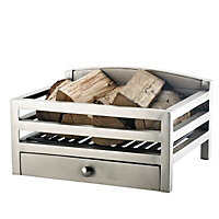 Slemcka Barford Contemporary Metal Fire basket (H)210mm (D)320mm