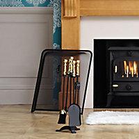 Slemcka Cast iron 5 piece Fireplace companion set