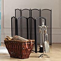 Slemcka Metal 5 piece Fireplace companion set